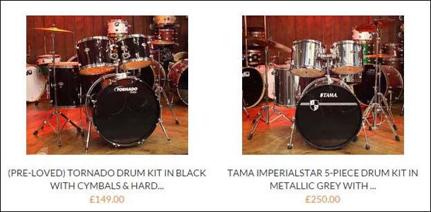 Drum Shop Drums!