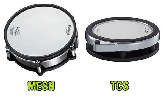 Mesh vs TCS E-kit Drums
