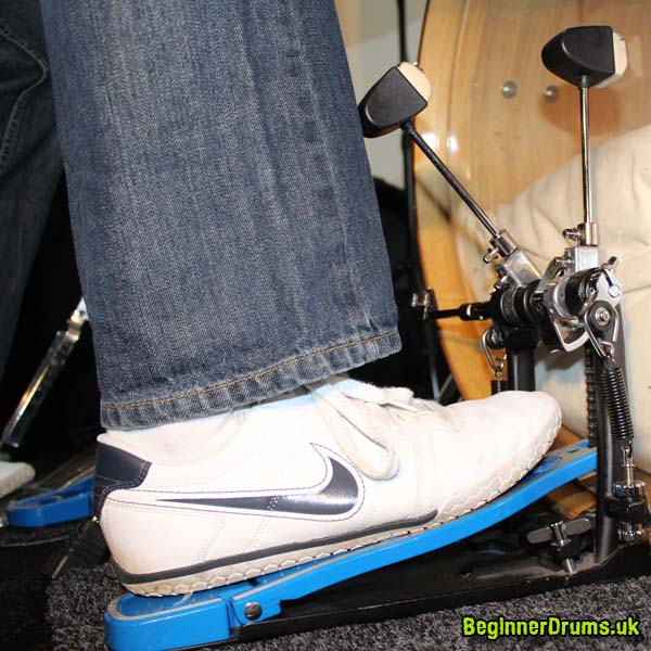 Right Foot Flat on Bass Drum Pedal