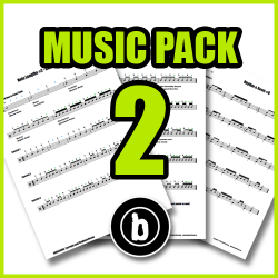 Drum Sheet Music Pack 2