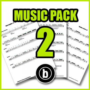Drum Sheet Music Pack 2
